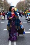 Caracteres del desfile de carnaval magnífico 2016 en Madrid, España Foto de archivo