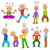 Caracteres del Doodle Imagen de archivo libre de regalías