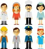 Caracteres del empleo de la gente fijados en estilo plano Fotos de archivo libres de regalías