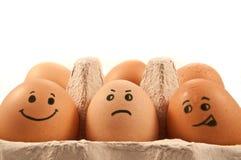 Caracteres del huevo Fotos de archivo