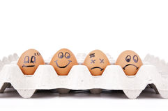 Caracteres del huevo Imagen de archivo libre de regalías