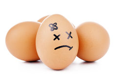 Caracteres del huevo Imagen de archivo