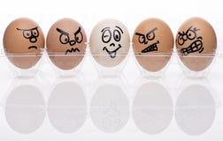 Caracteres del huevo Fotografía de archivo