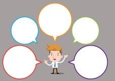 Caracteres del negocio de la historieta - burbuja en blanco Imagen de archivo libre de regalías
