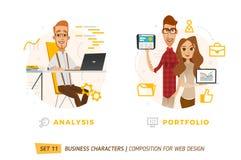 Caracteres del negocio en círculo Fotografía de archivo libre de regalías