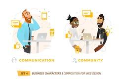 Caracteres del negocio en círculo Imagenes de archivo
