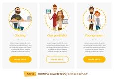 Caracteres del negocio fijados Foto de archivo libre de regalías