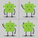 Caracteres del rompecabezas fijados ilustración del vector