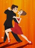 Caracteres del tango del baile ilustración del vector