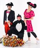 Caracteres del teatro en trajes Foto de archivo libre de regalías
