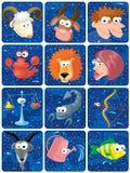 caracteres del zodiaco Fotografía de archivo