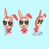 Caracteres divertidos del conejo imágenes de archivo libres de regalías