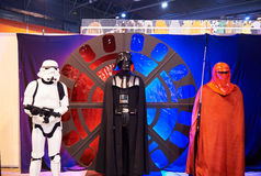 Caracteres ficticios de Star Wars incluyendo el ave zancuda c de Darth Foto de archivo libre de regalías