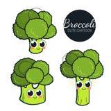 Caracteres lindos del bróculi Fotografía de archivo