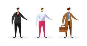Caracteres masculinos anónimos de diversas profesiones ilustración del vector
