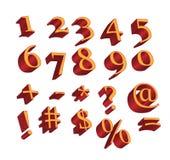 Caracteres numéricos y símbolos Foto de archivo libre de regalías