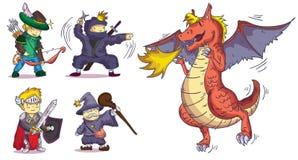 Caracteres para el juego y la animación Imagen de archivo libre de regalías