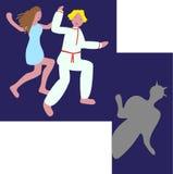 Caracteres a partir del día de fiesta del ` s del pleno verano libre illustration