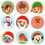 Caracteres redondos de Avatar de la Navidad libre illustration