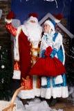 Caracteres rusos de la Navidad Imágenes de archivo libres de regalías