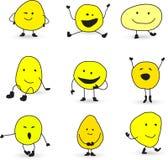 Caracteres sonrientes lindos de la cara Fotografía de archivo