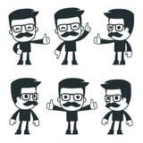 Caracteres universales en diversas actitudes icono libre illustration