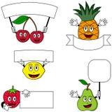 Caracteres y carteles [2] de la fruta Foto de archivo libre de regalías