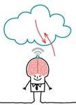 Caracteres y nube - cerebro grande libre illustration