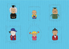 Caracters1. This is handdaw style illustration of characters topic. Cool linear and cartoon style. The are a lot of professions and human for your infograhic or Stock Photography