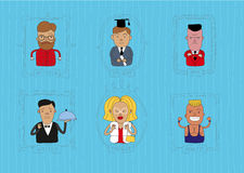 Caracters1. This is handdaw style illustration of characters topic. Cool linear and cartoon style. The are a lot of professions and human for your infograhic or Stock Photo