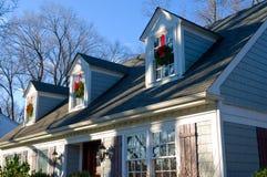 Características caseras suburbanas en las rebabas Ridge Illinois Fotos de archivo libres de regalías