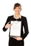 Características do contrato Fotos de Stock Royalty Free