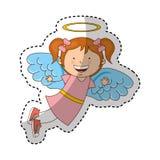 Caractère d'ange de petite fille Photos libres de droits