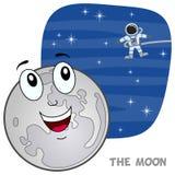 Caractère de lune de bande dessinée Image stock