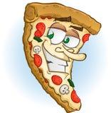 Caractère de pizza Photos stock