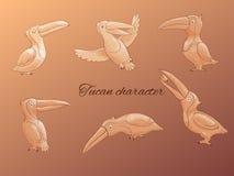 Caractère de Tucan Images libres de droits