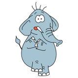 Caractère drôle de vecteur d'éléphant sur un blanc Image stock