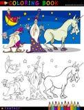 Caractères d'imagination pour la coloration Images libres de droits