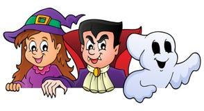 Caractères de cachette 1 de Halloween Images libres de droits