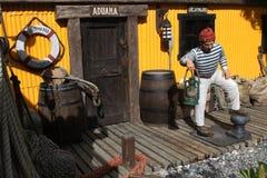 Caractères de l'histoire d'Ushuaia Photos libres de droits