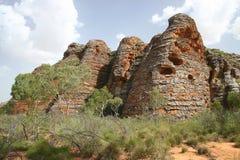Caractéristique géologique australienne Images libres de droits
