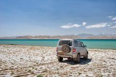 Caracul a lo largo de la carretera de Pamir, hdr admitido admitido de Tayikistán en agosto de 2018 imagen de archivo libre de regalías