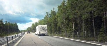 Caracvan sur la route Photos libres de droits