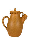 Carafe. Ceramic coffee carafe (isolated object Stock Photography