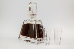 Carafe of cherry liqueur Royalty Free Stock Image