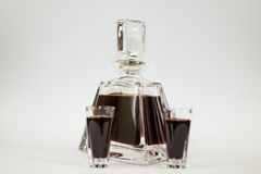 Carafe of cherry liqueur Royalty Free Stock Photos