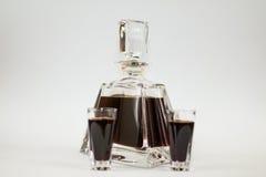 Carafe of cherry liqueur Royalty Free Stock Photos