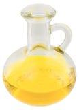 Carafe con olio giallo fotografia stock