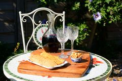 Carafe di vino rosso Fotografia Stock