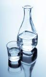 Carafe e vetro con alcool Fotografia Stock